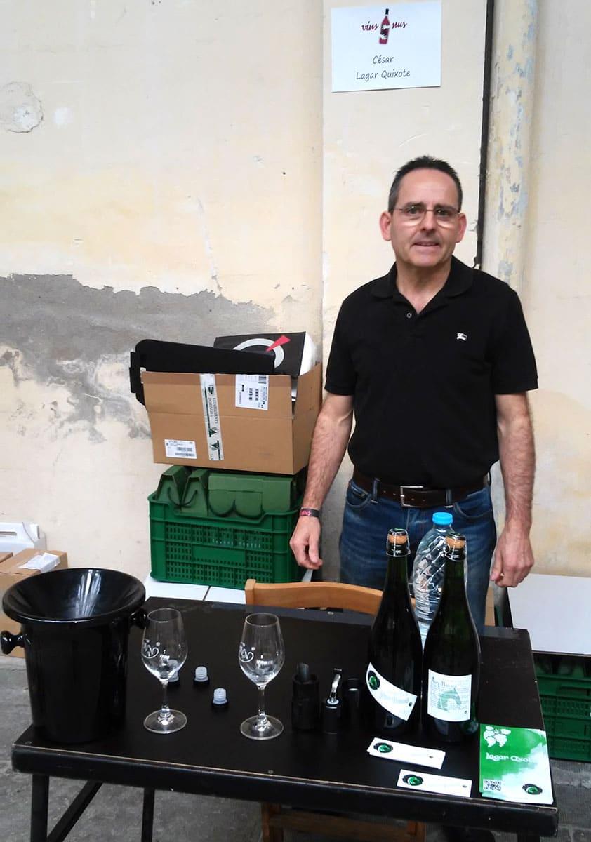 en la Feria de vinos naturales en barcelona